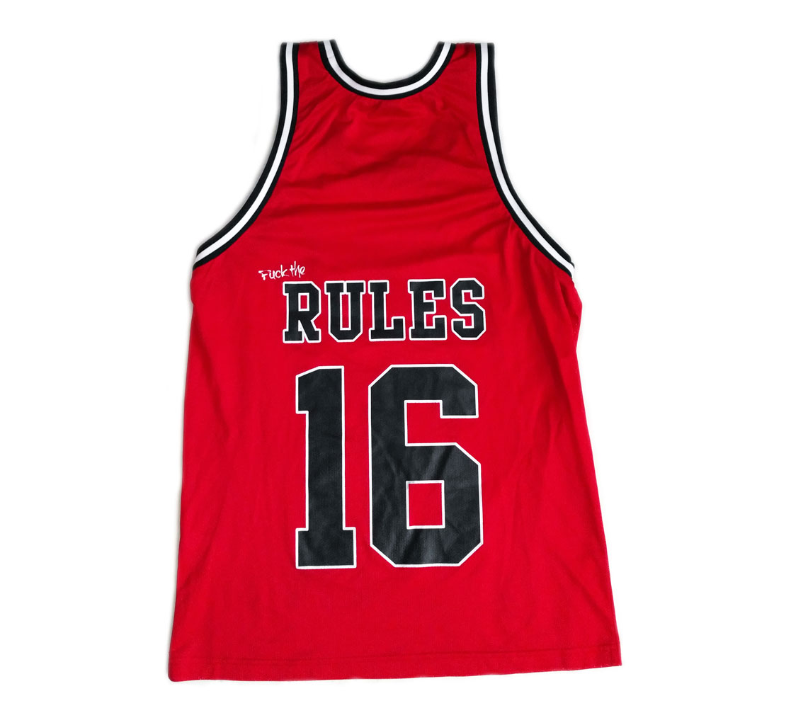 Rules 16 Red Basketball Jersey / 20€