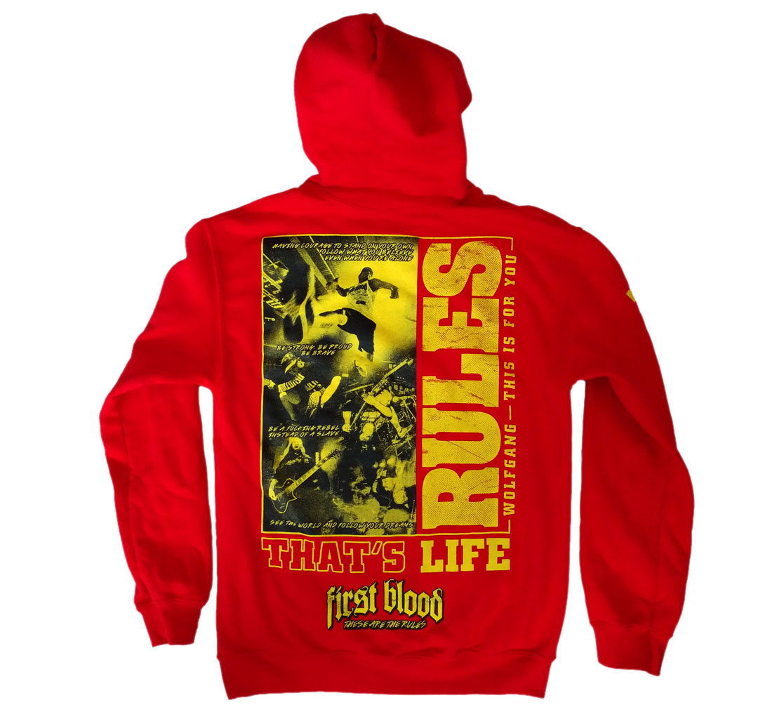 Wolfgang Rules That's Life Red Hoodie / 20€